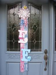 baby shower door decoration for soon arrival of a grand and