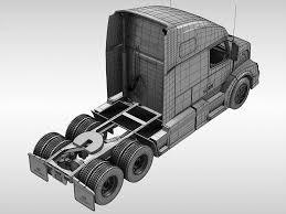 volvo semi models volvo vnl670 2016 3d model cgtrader