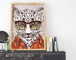 Animal Print Wall Decor Leopard Poster Etsy
