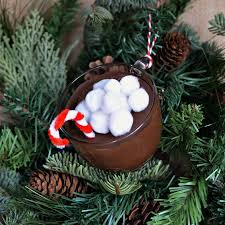 easy and mug of cocoa ornament