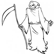 Scary Halloween Coloring Pages Grim Reaper Hallowen Coloring Scary Coloring Paes