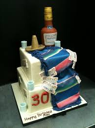 two tiered 30th birthday cake by spudnuts on deviantart