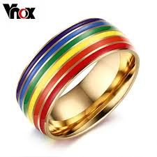 Stainless Steel Wedding Rings by 2016 Pride Engagement Rings For Women And Men Jewelry