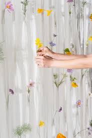 Ikea Flower Curtains Decorating Ikea Stockholm Blad Curtains Cabinet Counter Top Door Wallpaper