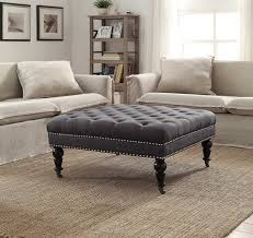 Suede Ottoman Suede Ottoman Coffee Table Table Designs And Ideas