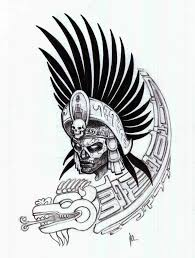 Mexican Flag Stencil Mexican Aztec Tattoo Stencil In 2017 Real Photo Pictures Images