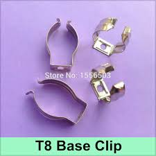 metal light clips 100x tube light t8 clip for fluorescent l t8 base metal wedge