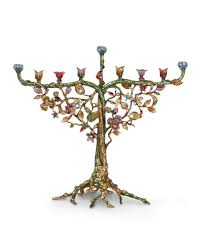 strongwater floral and vine menorah