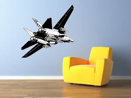 f16 fighter jet airplane wall decal vinyl aviation sticker 44x29