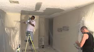 Removing Cottage Cheese Ceiling by Blue Sky Popcorn Ceiling Removal Knockdown Texture Youtube