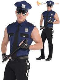 mens police officer costume policeman new york cop fancy