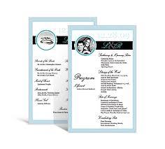 unique wedding programs rectangle wedding programs 5 x 7 875 diy unique wedding programs