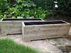 narrow planters trough planters the oli wooden garden planter