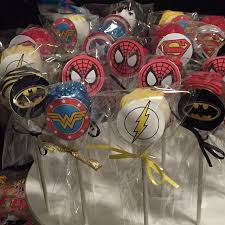 superhero pops party photo cakepop cakepops superhero yum