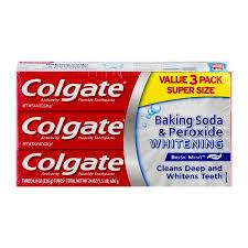 toothpaste whitening colgate baking soda and peroxide whitening toothpaste 8 oz 3