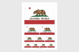 California Republic Flag California Flag Stickers Weatherproof Permanent Adhesive Car