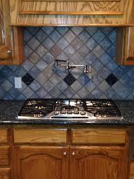 decorating daltile backsplash with pot filler faucet and