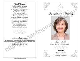 funeral memorial programs funeral memorial service program template programs 17 templates