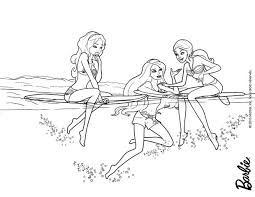 coloring pages barbie mermaid human coloring page funycoloring