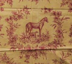 thibaut toile 1 66 yd fabric english hunt scene home decor remnant