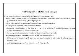 Furniture Store Manager Resume Retail Manager Job Description 17 Fields Related To Retail Area