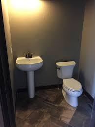 powder room with moen eva oil rubbed bronze faucet kohler