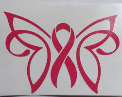 awareness ribbon butterfly decal window decal laptop mug decal