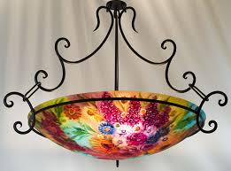Large Glass Chandeliers Purchase Flowers In Sedona Hand Painted Chandelier By Jenny Floravita