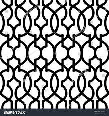 moroccan trellis pattern seamless vector background stock vector