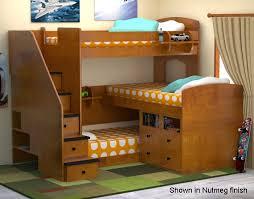 Trifecta Loft Bunk Bed Bedroom Furniture Beds Berg Furniture - Three bed bunk bed