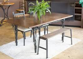 farm dining room table farmhouse table with bench iron dining room furniture