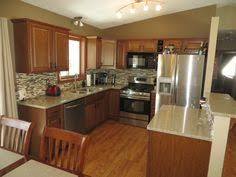 before and after of our ugly 1960 u0027s split level kitchen remodel