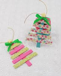 popsicle sticks and washi tree ornaments casa