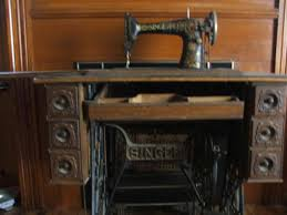Antique Singer Sewing Machine And Cabinet Singer Treadle Sewing Machine With Oak Cabinet Antique Appraisal