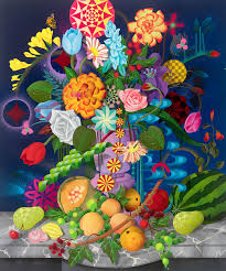 casey gray u0027still life with fruits and flowers u0027 print available