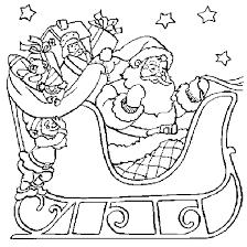 coloring santa claus sleigh christmas coloring print