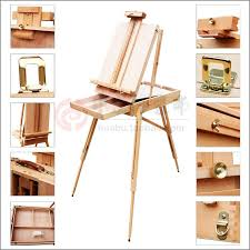 adjustable wooden artist tabletop easel with handle painting