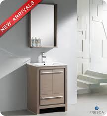 24 u201d fresca allier fvn8125go modern bathroom vanity u2013 grey oak