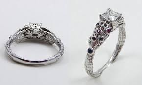geeky engagement rings 20 delightfully geeky engagement rings neatorama