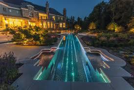lighting around pool deck swimming pool concrete pool deck with led lighting design wayne