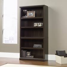 Discount Solid Wood Bookcases Stunning Sauder 5 Shelf Bookcase Cherry 33 In Discount Solid Wood