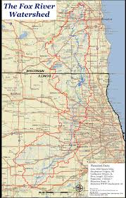 Chicago Il Map by Map Of Fox River Watershed