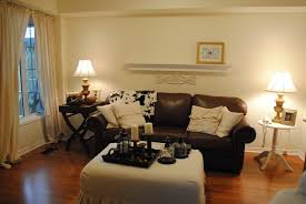 Simple  Living Room Ideas Dark Brown Sofa Inspiration Of Best - Simple interior design living room