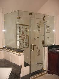incredible full glass shower doors bathroom design of the corner