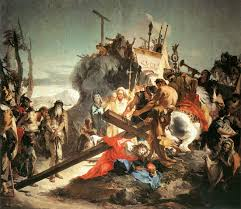 christ carrying the cross by tiepolo religious art paintings