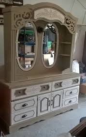 dresser makeover with old locket valspar chalky paint and cream