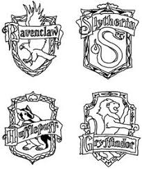coloring pages houses harry potter house crest coloring pages education pinterest