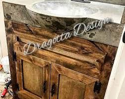 Farm Style Bathroom Vanities Rustic Vanity Etsy