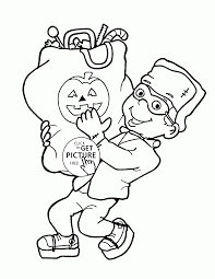 Kids Halloween Coloring Pages Very Happy Halloween Coloring Pages For Kids Holidays Printables