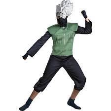 amazon com halloween costumes amazon com men u0027s deluxe naruto kakashi cosplay costume size